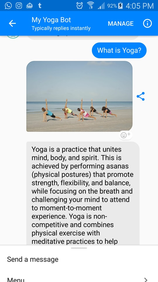 The Yogabot by Sauco Media