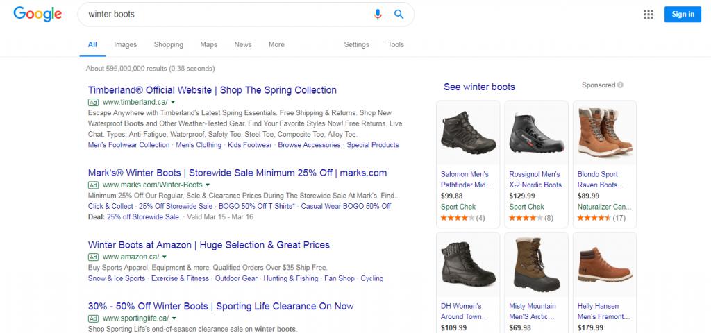winter boots google